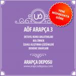 Aöf ilahiyat Arapça 3 konuları ve soruları
