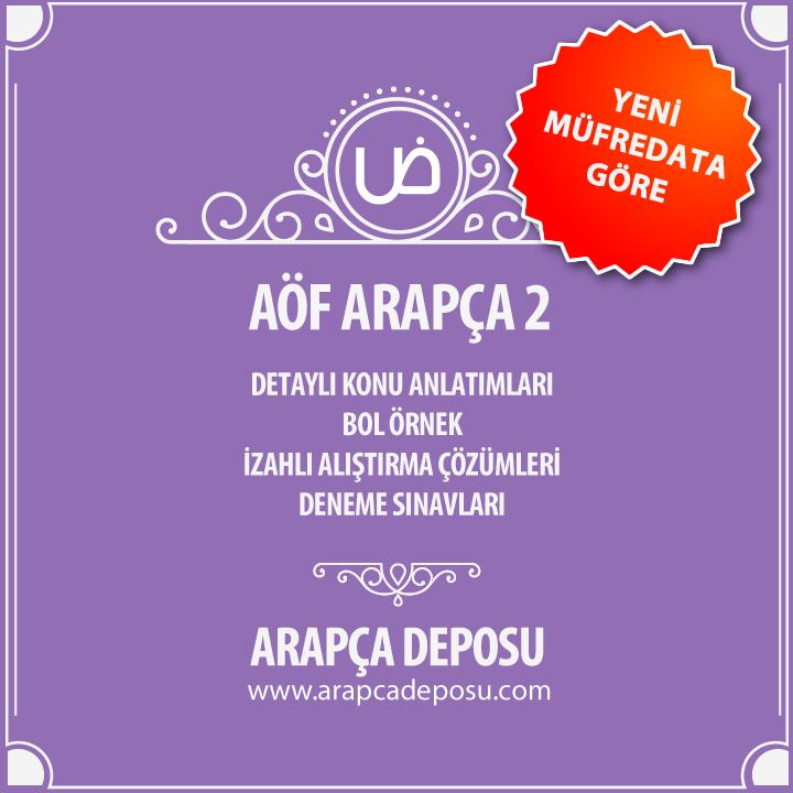 AÖF Arapça 2